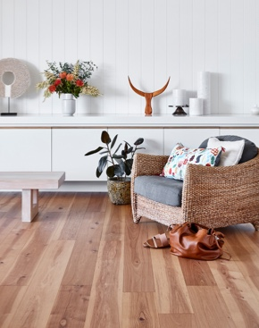 Natural Brown Timber Flooring